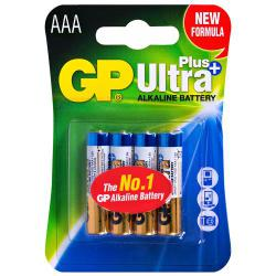 Батарейка GP ULTRA PLUS ALKALINE, 1.5V, 24AUPHM-2UE4, щелочная, LR03 AUP, AAA (4891199100338)