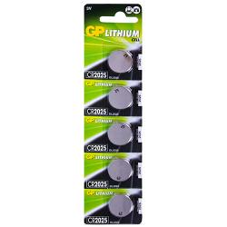 Батарейка GP дисковая, Lithium Button Cell, 3V, CR2025-8U5, литиевая (4891199001130)