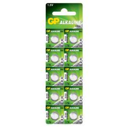 Батарейка GP ALKALINE Cell A76-U10 щелочная, A76, LR44 ((10))