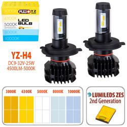 Лампи PULSO YZ/H4-H/L/LED-chips ZES-Philips/9-32v2*25w/4500Lm/3000-4300-5000-6500-10000K