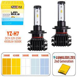 Лампи PULSO YZ/H7/LED-chips ZES-Philips/9-32v2*25w/4500Lm/3000-4300-5000-6500-10000K