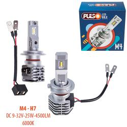 Лампи PULSO M4/H7/LED-chips CREE/9-32v/2x25w/4500Lm/6000K