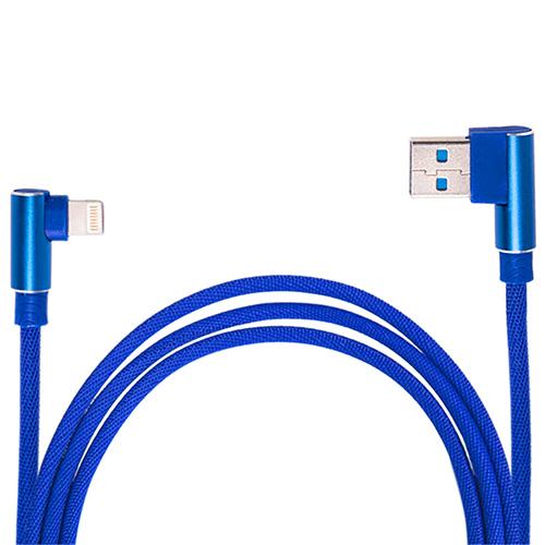 Кабель USB - Micro USB (Blue) 90° ((400) Bl)